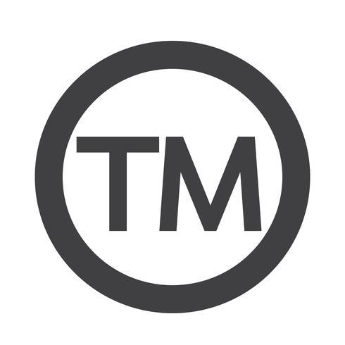 Symbole de marque de commerce vecteur