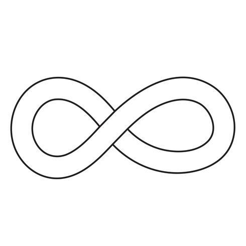 Icône symbole sans limites vecteur