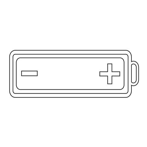 icône de la batterie web vecteur