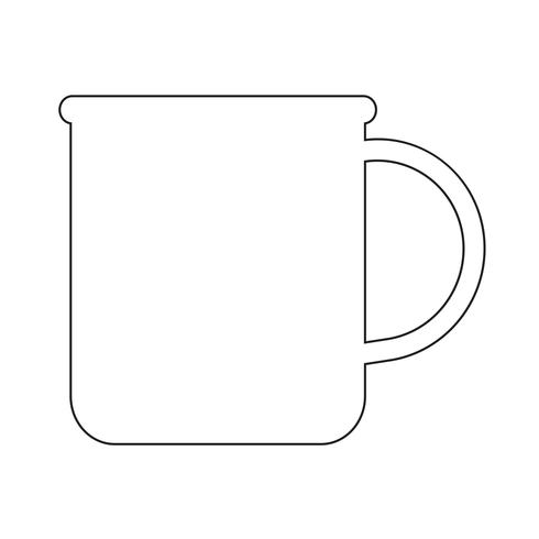 tasse d'icône de café de thé vecteur