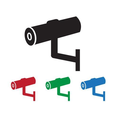 Icône de vidéosurveillance, CCTV, icône de sécurité vecteur