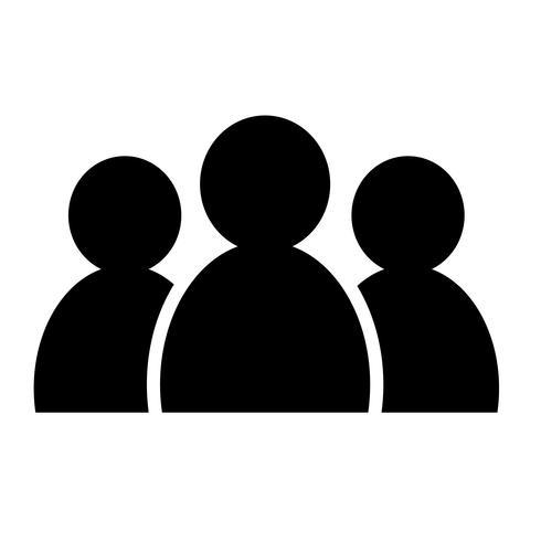 icône de groupe de personnes vecteur