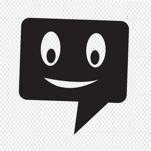 icône de bulle de dialogue vecteur