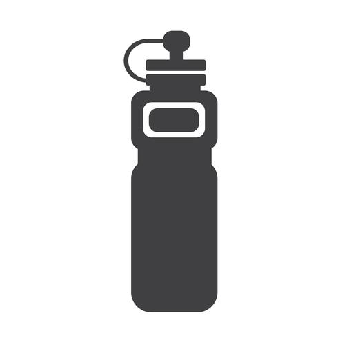 icône de bouteille d'eau de sport vecteur