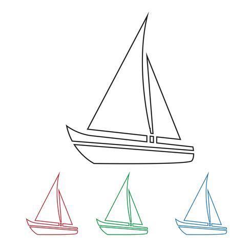 Icône de bateau à voile vecteur