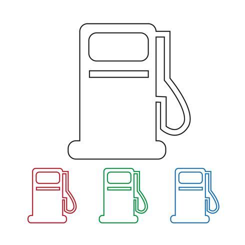 icône de la station d'huile vecteur