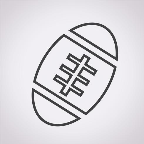 Icône de ballon de football américain vecteur