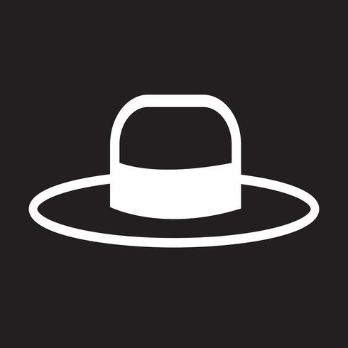 Symbole de symbole icône chapeau vecteur
