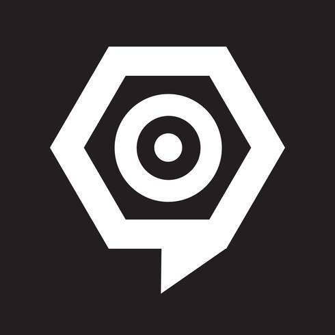 icône de bulle cible vecteur