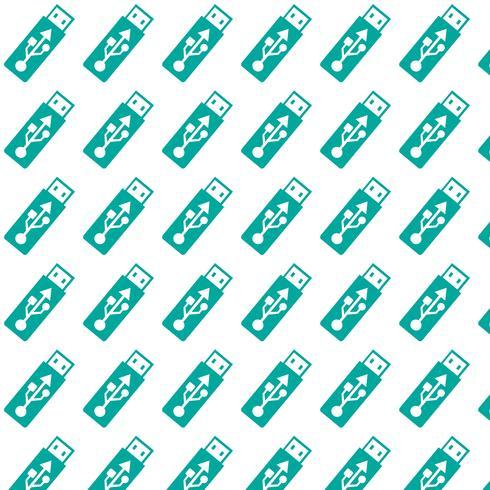 motif de fond icône de lecteur flash USB vecteur