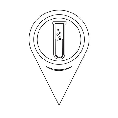 Map Pointer Lab Tube Icône vecteur