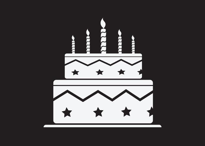 Icône de gâteau d'anniversaire vecteur