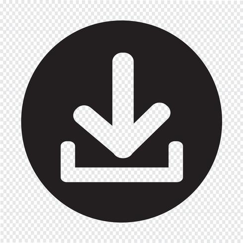 Icône de téléchargement Bouton de téléchargement vecteur