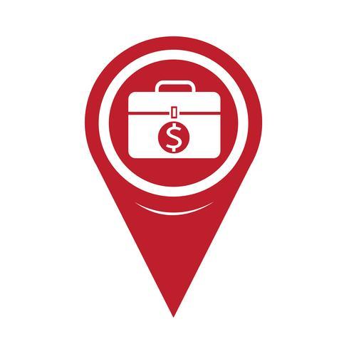 Icône de carte Pin Pointer Money vecteur