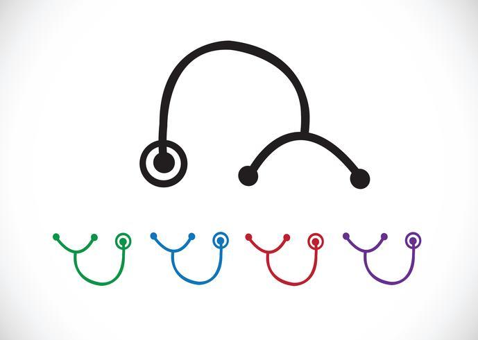 icônes de stéthoscope symbole signe vecteur