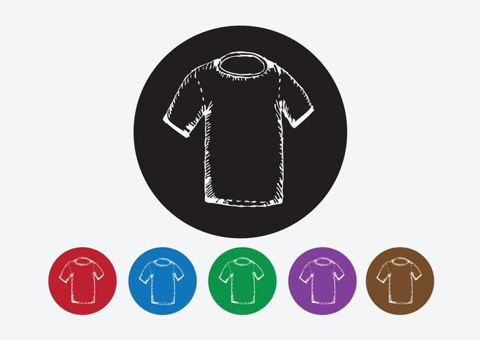Habillement chemise et T-shirt Icon Icônes de vêtements vecteur