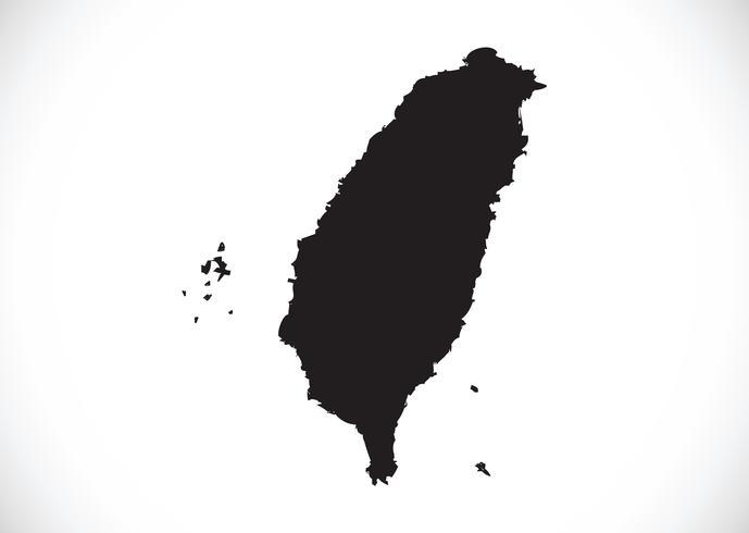 Carte de Taiwan symbole signe vecteur