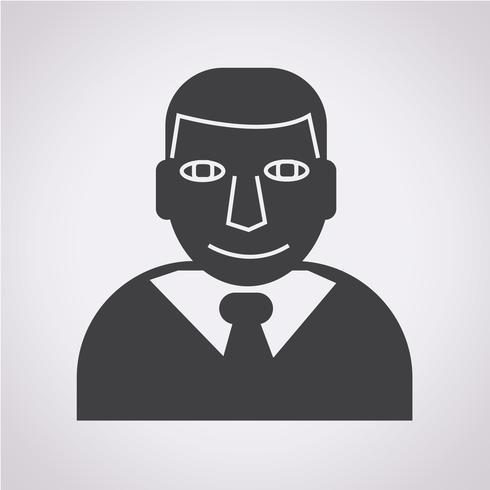 Signe de symbole icône homme d'affaires vecteur