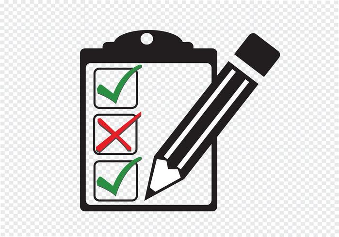 icône de la liste de contrôle Symbole vecteur