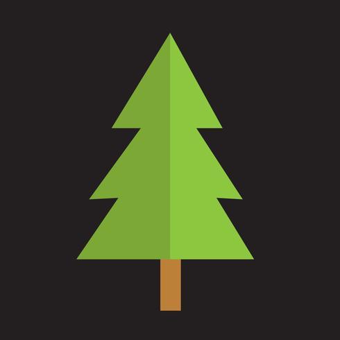 Icône de l'arbre de Noël vecteur