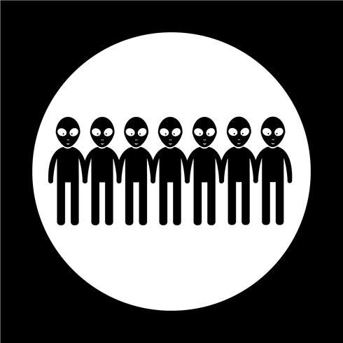 Alien Icon symbole signe vecteur
