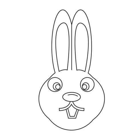 icône de lapin vecteur