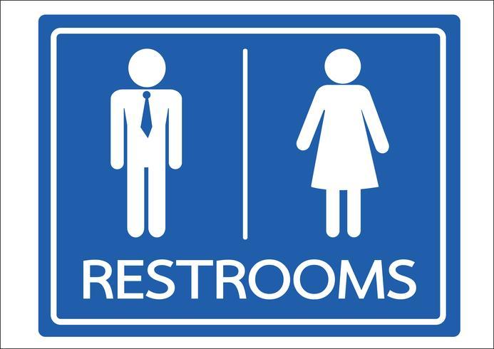 Symbole de toilettes homme et femme vecteur