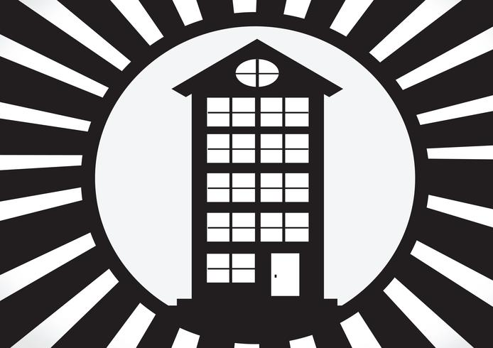 Icône de la maison et concept immobilier vecteur