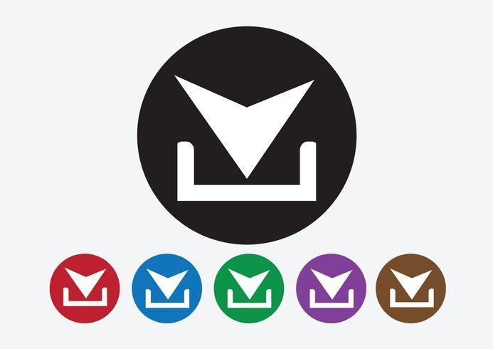 Icône de téléchargement et bouton de symbole de téléchargement vecteur