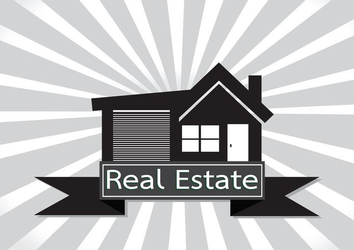 Conception de l'icône Real Estate House Building vecteur