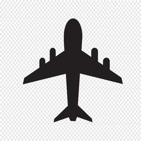 signe de symbole icône avion vecteur