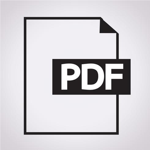 Icône de symbole PDF vecteur