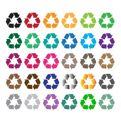 Recycler signe symbole signe vecteur