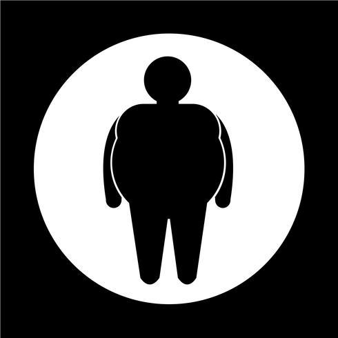Icône de personnes grasses vecteur
