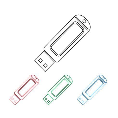 Clé USB icon vecteur