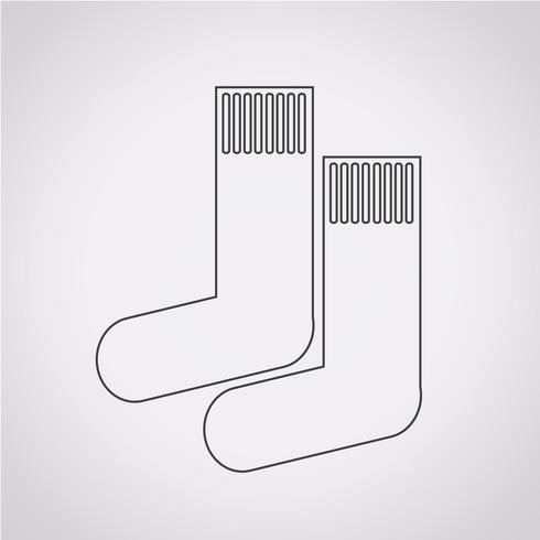 chaussette icône symbole signe vecteur