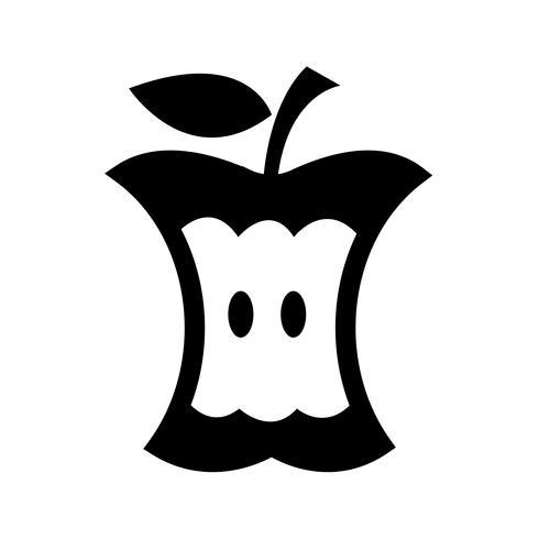 signe de symbole icône pomme vecteur