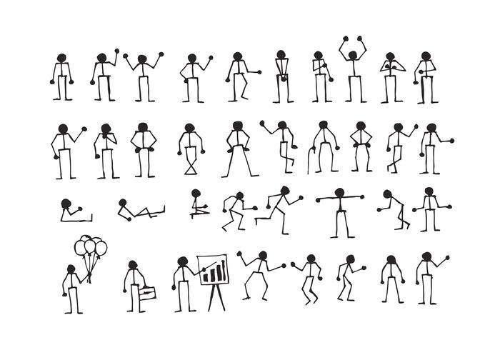 Les actions des personnes signent symbole pictogramme vecteur