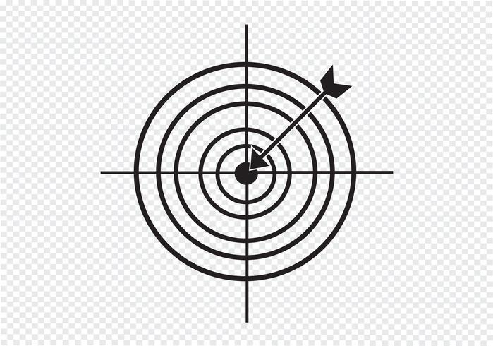 Icône cible Symbole Signe vecteur
