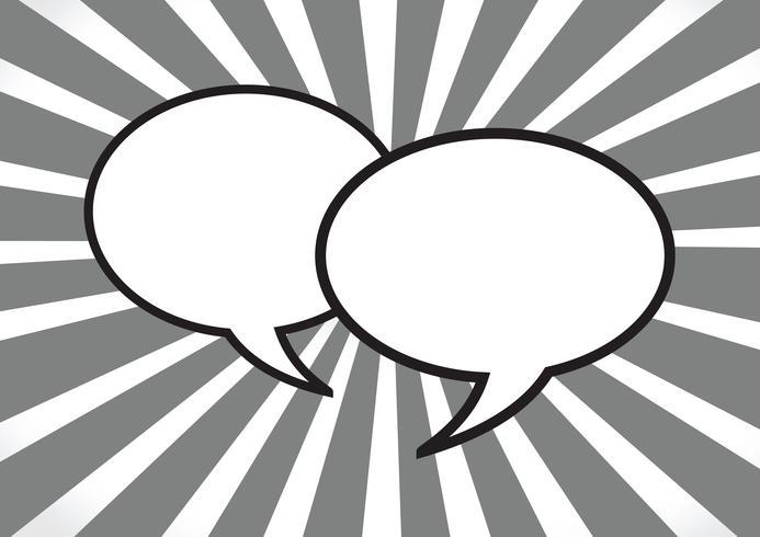 Signe de symbole de bulles de parole vecteur