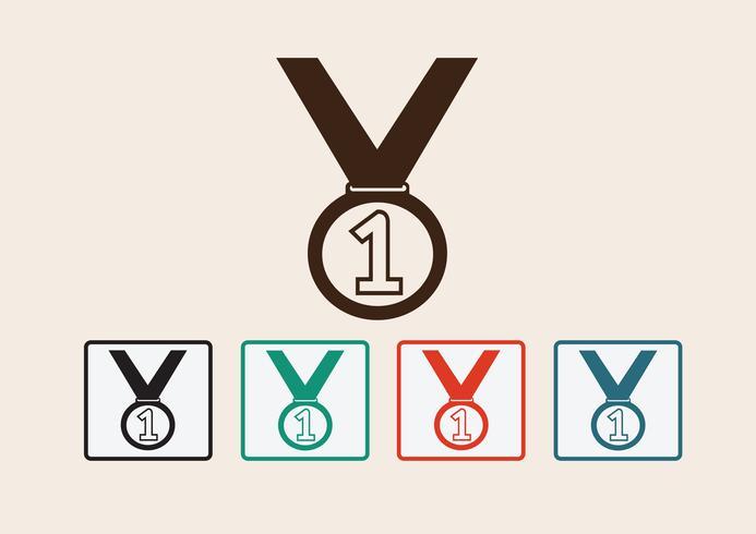Jeu d'icônes de médaille vecteur