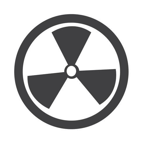 Icône de signe de radioactivité vecteur