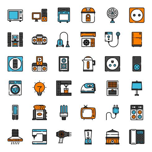 icône d'appareils ménagers vecteur