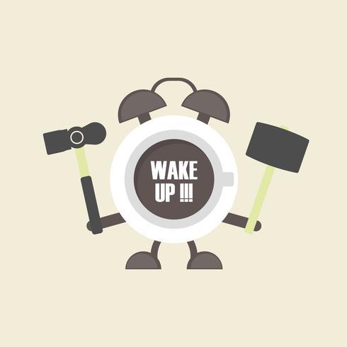 café réveil vecteur