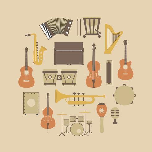 icône d'instrument rétro vecteur