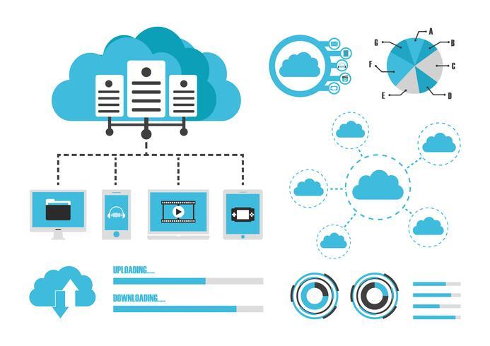 infographie nuage isolé vecteur