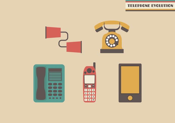 évolution du téléphone vecteur