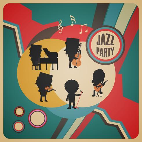 affiche de groupe de jazz abstraite vecteur
