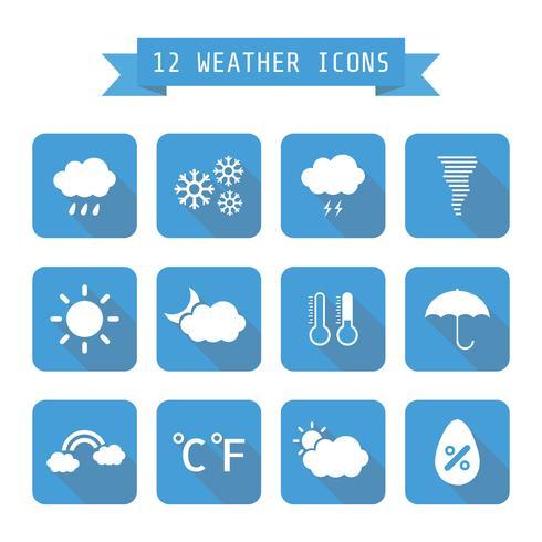 icône météo avec ombre vecteur