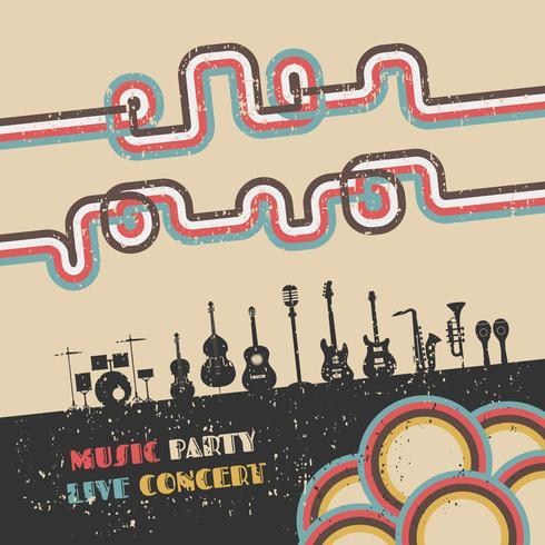 affiche du festival de musique vecteur